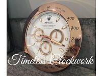Role gold daytona wall clock