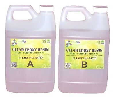 Crystal Clear Bar Table Top Epoxy Resin Coating For Wood Tabletop - 1 Gallon Kit