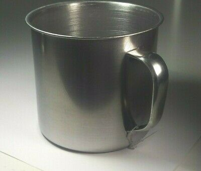 2pcs 500ml Stainless Steel Backpacking Camping Cup Pot Bowl Folding 9x10cm
