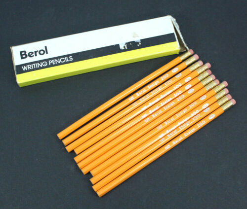 Berol Ensign Pencil 2 Soft Med 200-2 Writing Pencils Quality Stationery Draw 11