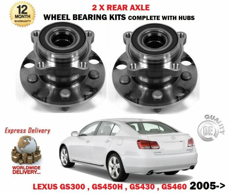 FOR LEXUS GS300 GS430 GS450H GS460 2005-2011 2X REAR WHEEL BEARING HUB ASSEMBLY