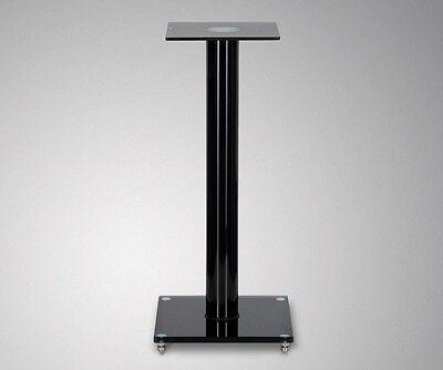 2 Lautsprecherständer V1 Black Glas ALU Boxen Ständer Stativ Säule Sockel Podest