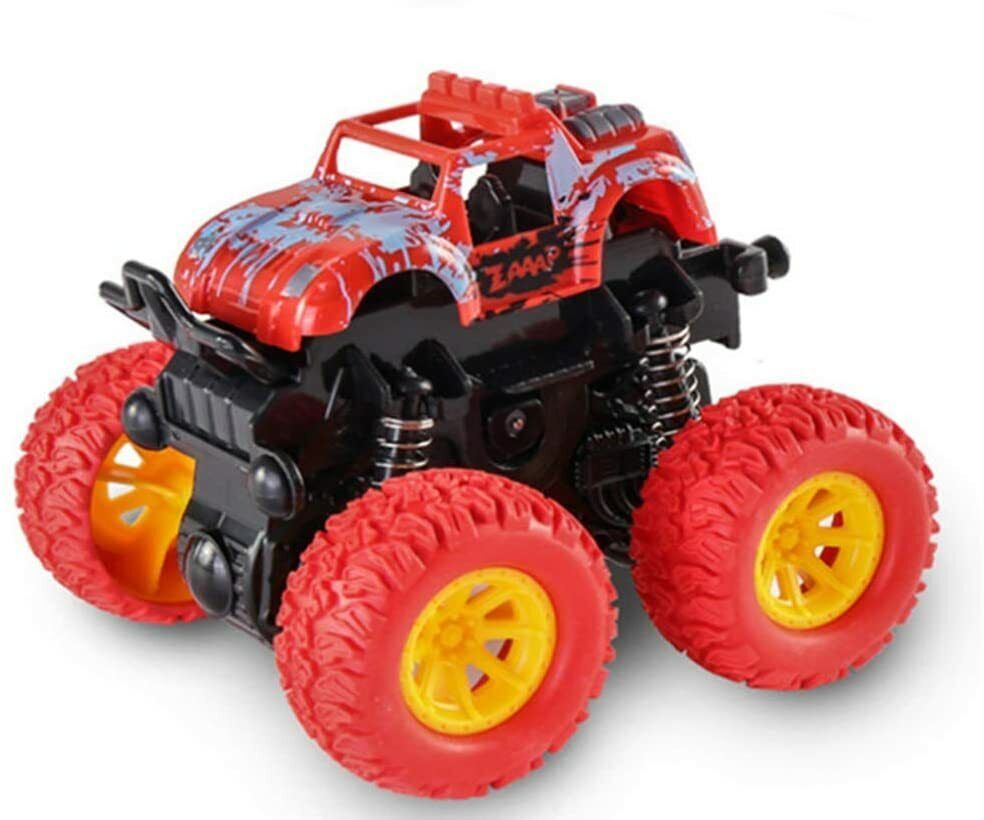 Mini Monster Trucks Push Go Back Friction Truck Car Toys Pla
