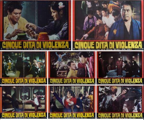 FIVE FINGERS OF DEATH Italian fotobusta movie posters x8 SHAW BROS 1972