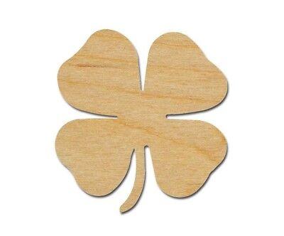 4 Leaf Clover Shape Wooden Shamrock Unfinished Wood Cutouts Variety of Sizes - Shamrock Cutout