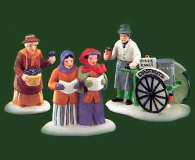 Department 56 Violet Vendor / Carolers / Chestnut Vendor Dickens' Village 55808