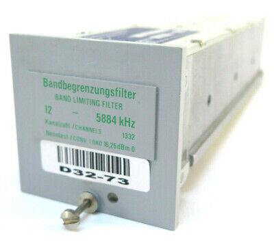Wandel Goltermann Band Limiting Filter 12 - 5884 Khz - Rsb-125884 858350
