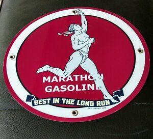 Marathon Gasoline gas oil sign