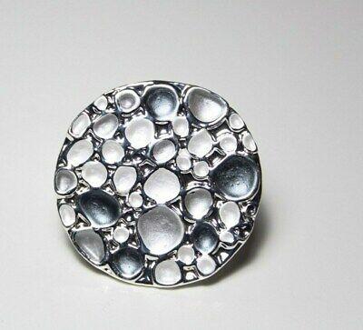 n silber grau  stylisch Metall dehnbar (Dehnbare Ringe)