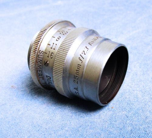 Bausch & Lomb Optical Balcote Animar Summer 25mm f/2.7 Lens