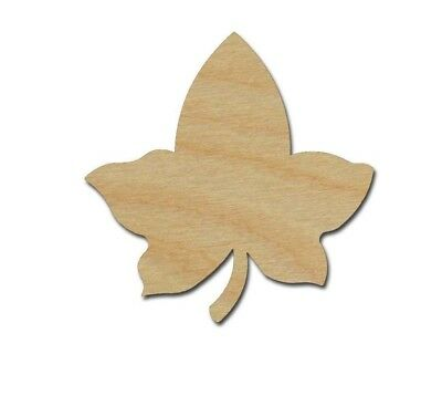 Ivy Leaf Shape Unfinished Wood Cutouts Variety of Sizes Made in USA - Leaf Cutouts