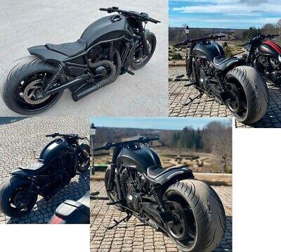 Tapizado Asiento + Custom Posterior FENDER Harley V-Rod V Barra Vrod Noche