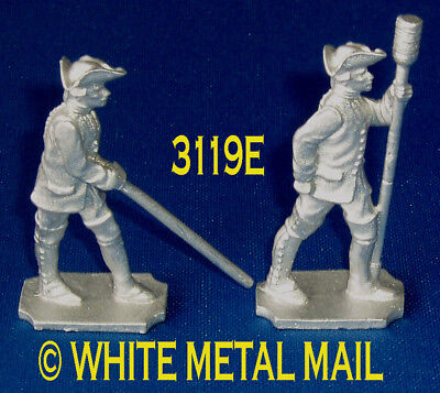 RUSSIAN Bombardier 40mm Casting Set 3119E 7 Years War Aligner and Crewman Ramrod