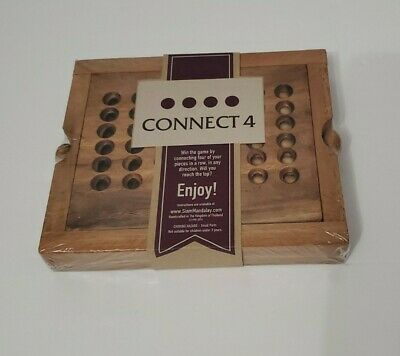 Siam Mandalay Wooden Games Connect 4 NIB