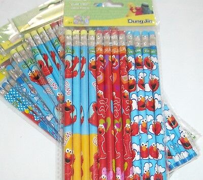 Elmo Sesame St Wooden Pencil Boys & Girls Birthday School Party Favor Bag Filler - Elmo Party Bags