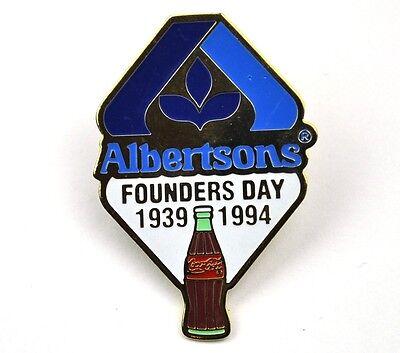 Coca-Cola Coke USA Lapel Pin Anstecknadel - Albertsons Founders Day 1994