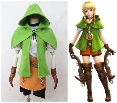 Hot! The Legend of Zelda Hyrule Warriors Linkle Link Cosplay Costume green M.716