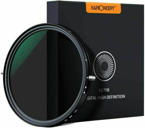 K&F Concept 77/82mm Camera Lens Filter ND2-ND32 and CPL 2 in 1 No X Spot