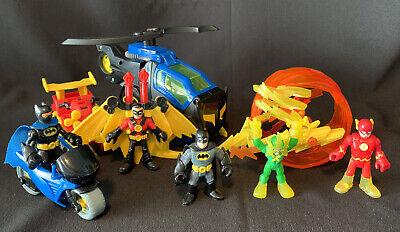 Imaginext BATMAN helicopter Motorcycle Robin ATV Electro Flash