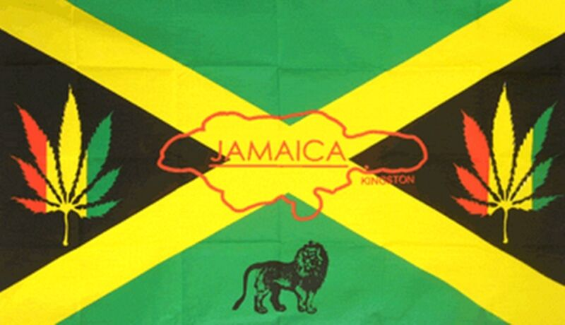 JAMAICA 5 X 3 FEET FLAG polyester flags Reggae Rasta lion rastafarian Jamaican