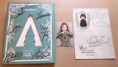 SONAMOO SIGNED/AUTOGRAPHED DEJA VU ALBUM WITH photo cards