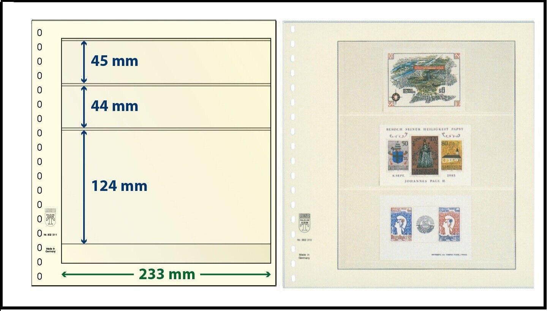 1 Lindner DT802310 Dt-Blanko-Blätter Blank Sheets 4x 76 0 3/32x2