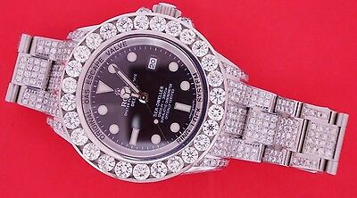Unused Rolex Sea Dweller Watch 116660 44mm Custom 25 Carat Diamond Video Deepsea