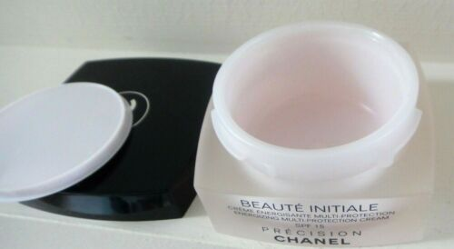 CHANEL EMPTY JAR WITH BOX Cream 1.7oz Collectible Reusable Storage