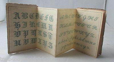 French Fold Out Albums of Alphabet & Needlework Designs;Original ANTIQUE c1880