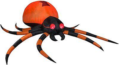 12' Gemmy Airblown Inflatable Kaleidoscope Halloween Spider Yard Decoration