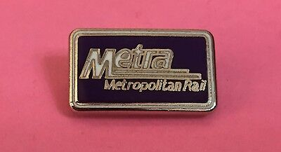 Railroad Hat-Lapel Pin/Tac -METRA Metropolitan Rail  #1465-NEW