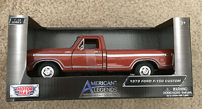 1979 FORD F-150 CUSTOM TRUCK, [MOTOR MAX BRAND], DIE CAST FACTORY TOY, 1:24