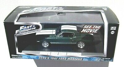 GREENLIGHT FAST & FURIOUS 1:43 SEAN'S 1967 FORD MUSTANG FASTBACK