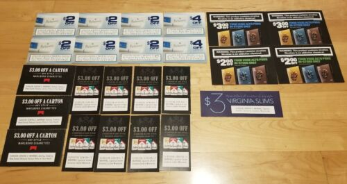 Lot Of 24X Marlboro Parliament Virgina Slims VUSE Huge Saving Cigarette Coupons  - $29.65