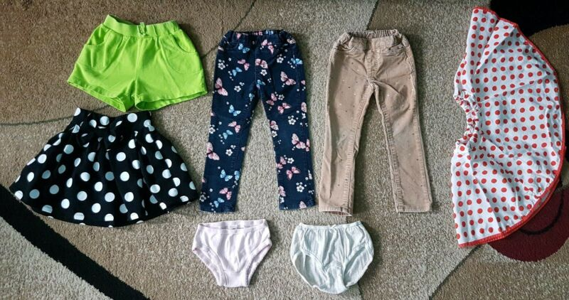 Lot Of 7 Baby Girl Clothing Pants Skirt Short H&m, Uniqlo Size 2-3t