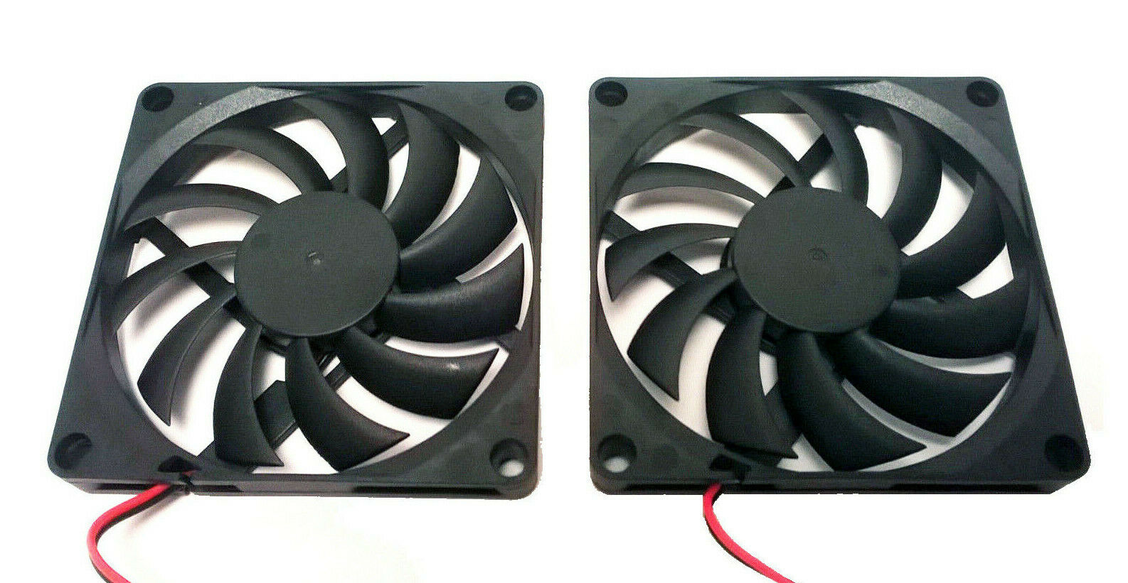 LOT of 2 80x80x10mm 5v 0.25A 2 Pin 80mm Cooling Fan Computer