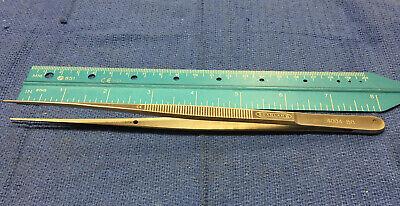 Scanlan Thumb Forceps Flat Handle 4004-881 Mm Straight Diamond Dust Tips8