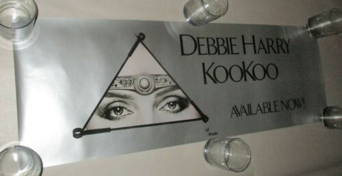 "Debbie Harry Blondie 1981 RARE KOOKOO USA Promo Poster 13"" x 38"" HR Giger MINT-"