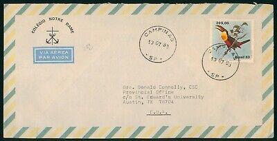 Mayfairstamps Brazil 1983 Colegio Notre Dame Anchors Cross Tucan Cover wwo_59347