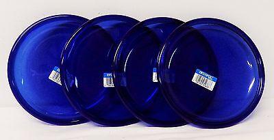 Free shipping – NEW – Set of 4 Dessert Plates – Cobalt Blue – Arcoroc – France