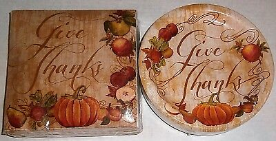THANKSGIVING Paper Plates & Napkins  FRUITFUL - Thanksgiving Paper Products