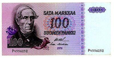 Finland ... P-109a ... 100  Markkaa ... 1976 ...  *VF+*.