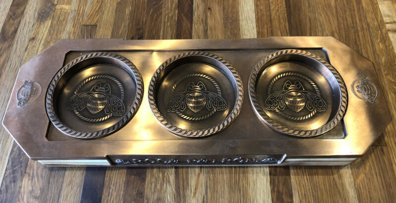 ROCA PATRON Tequila Flight Copper Lined Display Tray