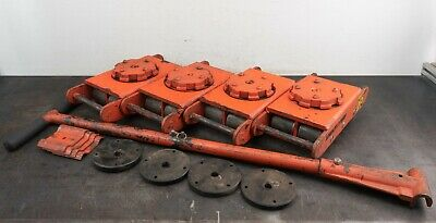 Multiton Multiroll Mark 6s 4 Machinery Skates 2 Connectors 4 Pads T-bar Handle