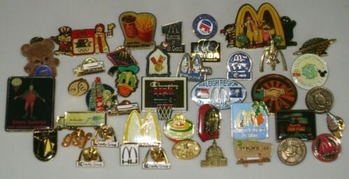 Vintage McDonalds Pinback Lot - Disney, Crew Member, Etc GrpD