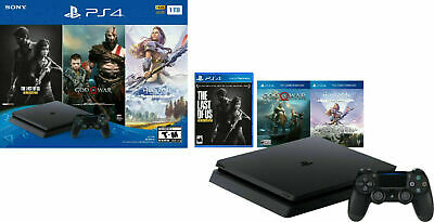 PS4 PlayStation 4 1TB S Hits 6 Bundle GTA 5+Days Gone+Horizon Zero+Fortnite 500V