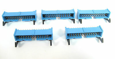 26 Pin Shrouded Header Connector Wlatch Tb 501-2627e 5lot Great Price