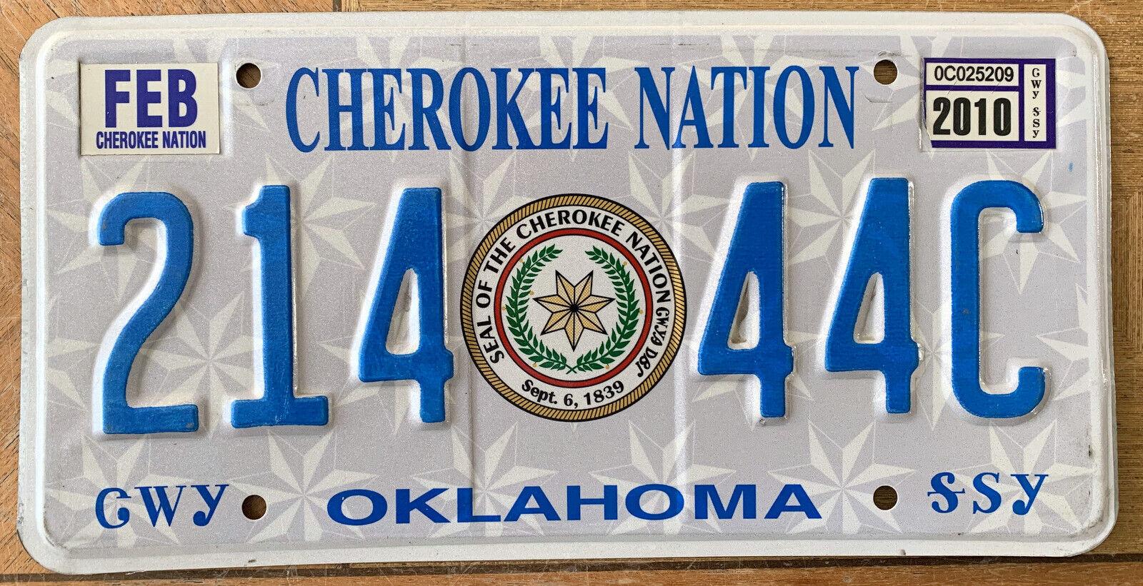 Nummernschild USA Kennzeichen OKLAHOMA Indianer CHEROKEE NATION 7981CO Gold Seal
