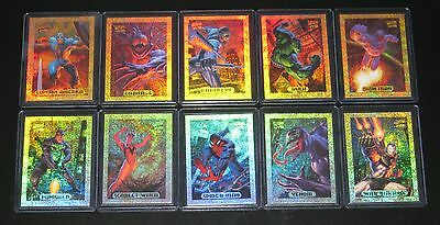 1994 Marvel Masterpieces GOLD HOLOFOIL Insert Set of 10 Cards NM/M Jumbo Packs