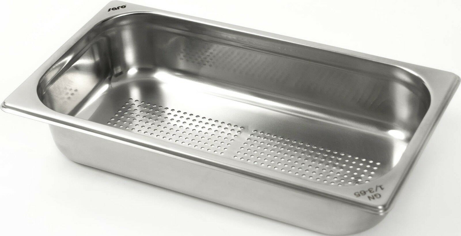 GN Behälter 1//3 perforiert 2,5 Liter Tiefe 65 mm Gastronorm gelocht Edelstahl